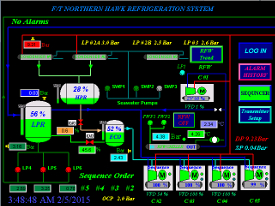 Northern Hawk automation screen